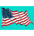 american 48 star artistic brush stroke waving flag vector image vector image