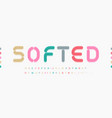 awesome softed alphabet soft rounded font vector image vector image
