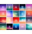 big set 20 square blurred nature backgrounds vector image vector image