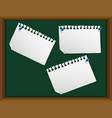 blank note on chalkboard vector image