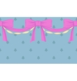 border with bows vector image vector image