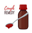 bottle with cough remedy liquid medicine vector image vector image