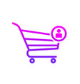 buy cart shop store user icon vector image vector image