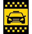 cab transport background vector image vector image