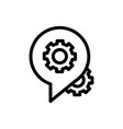 call center service business settings gear line vector image