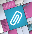 clip to paper icon sign Modern flat style for your vector image