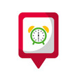 clock alarm social media square pointer web vector image
