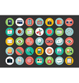 Collection of flat design icons cloud computing vector image vector image