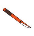 color silhouette image cartoon orange scalpel vector image vector image