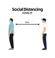 concept social distancing in flat design vector image