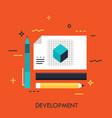 development concept vector image