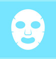 facial mask flat icon medicine vector image