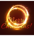Glowing frame with shining swirl Xmas card design vector image vector image