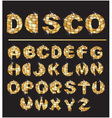 Gold disco ball letters vector image vector image