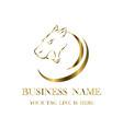gold tiger head logo eps 10