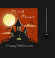 halloween background with trick or treat and vector image vector image