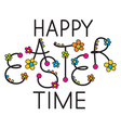 happy easter time headline vector image vector image