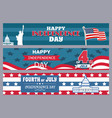 happy independence day stpires vector image vector image