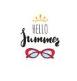 hello summer inspirational summer vector image