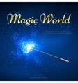 Magic wand mystery background vector image vector image