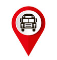 map marker with icon a bus vector image vector image