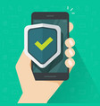 mobile phone security protection vector image vector image
