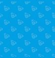motor pattern seamless blue vector image vector image
