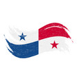 national flag of panama designed using brush vector image vector image