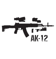 new weapon ak 12 vector image vector image