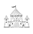 Old engraved of Chateau de Pau vector image vector image