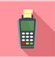 pay by terminal money icon flat style vector image vector image