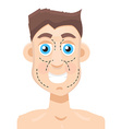 Plastic surgery man vector image vector image
