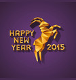 polygonal golden ram sheep symbol of year vector image vector image