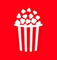 popcorn cinema movie night icon big size strip vector image vector image