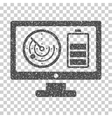 Radar Battery Control Monitor Grainy Texture Icon vector image vector image