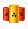 realistic 3d detailed radioactive waste barrels vector image vector image