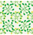 Seamless floral pattern Background with leaves vector image