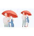 senior family protection concept elderly couple vector image