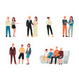 set characters - family at different ages flat vector image vector image