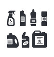 set cleaning tools in monochrome color vector image vector image