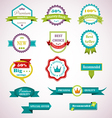Set of Labels Concept vector image vector image