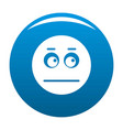 smile icon blue vector image