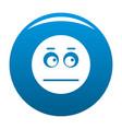 smile icon blue vector image