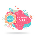 spring sale banner invitation poster colorful vector image