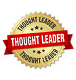 thought leader round isolated gold badge vector image vector image