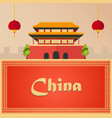 trip to china vacation road trip tourism vector image vector image
