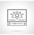 Video blog player flat line icon vector image vector image