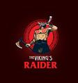 viking raider esport style symbol vector image