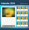 Wall monthly calendar for 2018 year design print