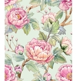Watercolor floral chinese pattern vector image